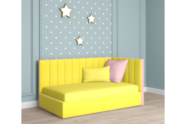 """Детская кровать жёлтая """"Патриция"""" - Купить мебель в Москве с доставкой"""