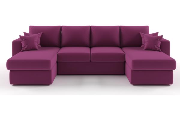 Диван Monaco двумя оттоманками - Купить мебель в Москве с доставкой