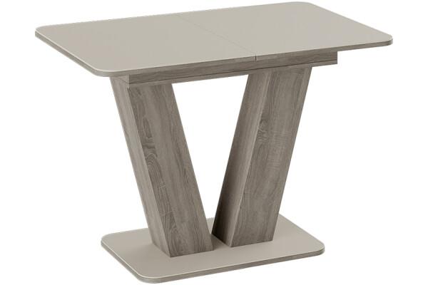 Стол обеденный Stone 110 (бежевое стекло) - Купить мебель в Москве с доставкой