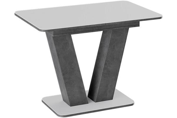 Стол обеденный Stone 110 (белое стекло) - Купить мебель в Москве с доставкой
