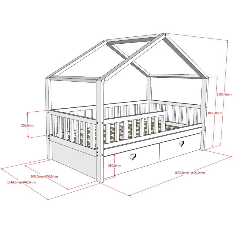 Кровать_НК-01, БК-02 Размеры