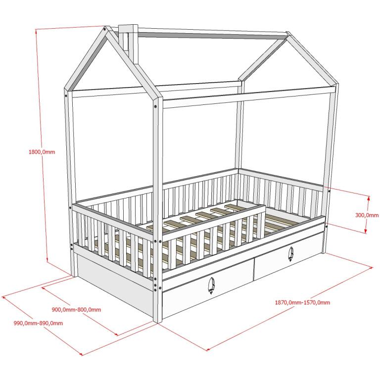 Кровать НК-05, БК-06 Размеры