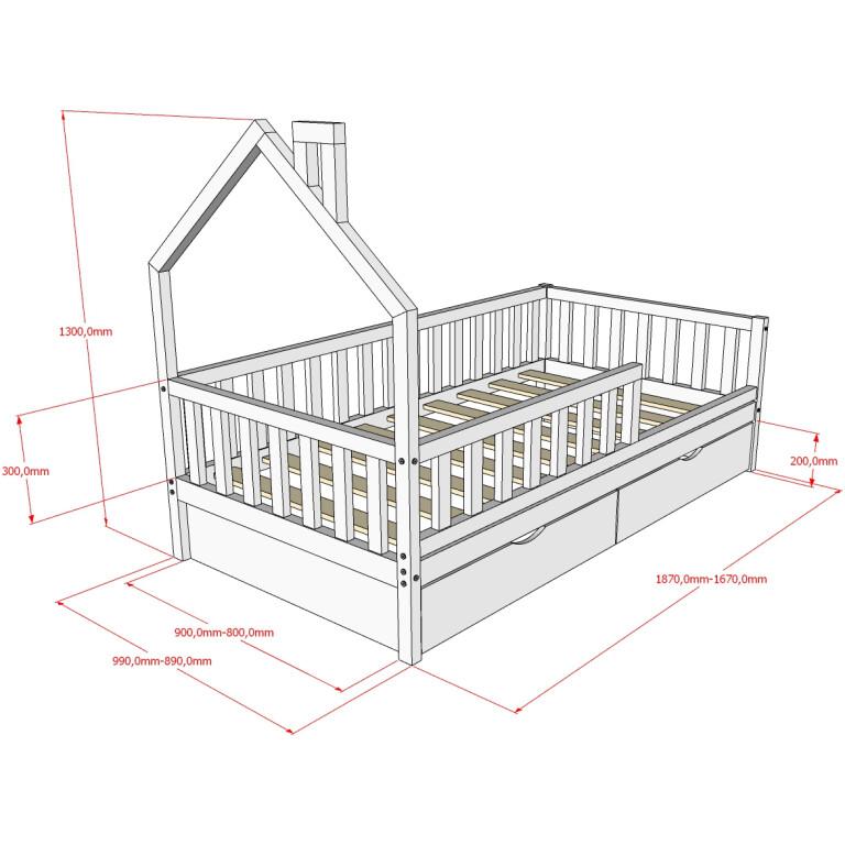Кровать НК-07, БК-08 Размеры