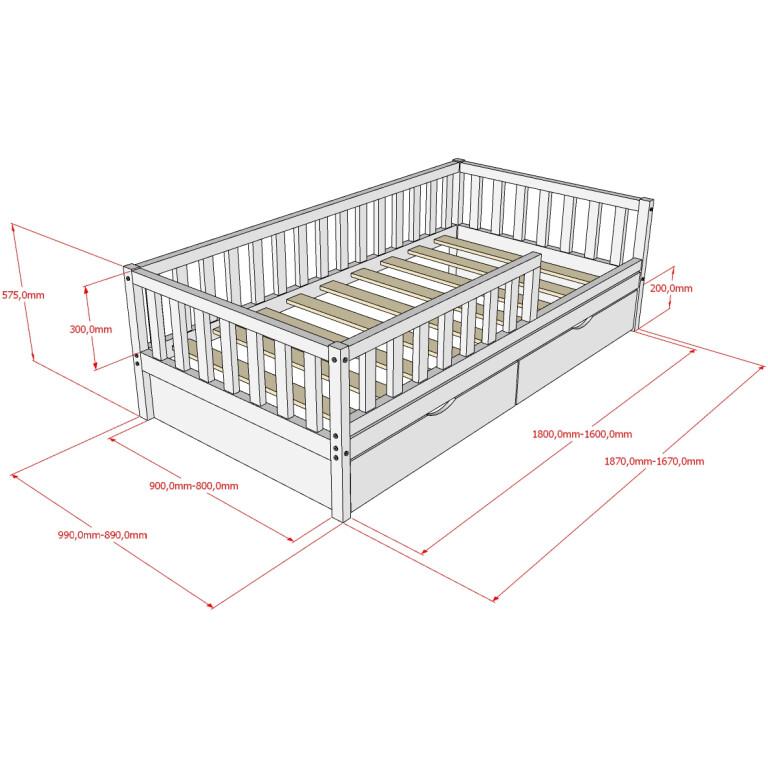 Кровать НК-09, БК-10 размеры