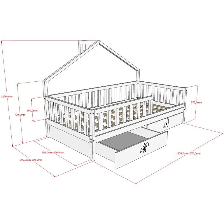 Кровать НК-11, БК-12 Размеры