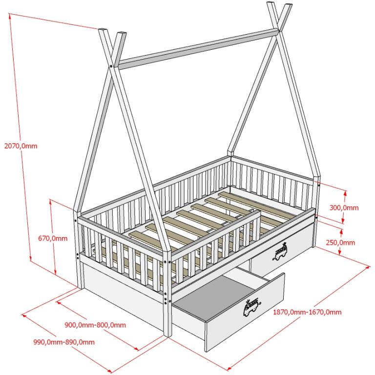 Кровать НК-15, БК-16 Размеры